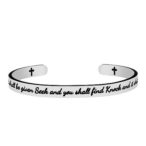 Amazon.com: joycuff Christian pulseras para mujeres ...