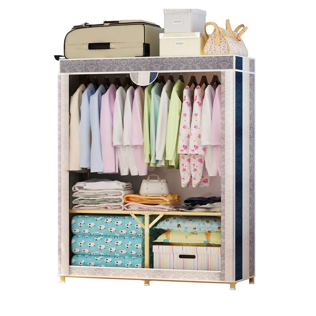 Hai Yan Boutique Cloth Wardrobe Cloth Coat Rack Hanger Storage Cabinet Cabinet Assembly Hanging Wardrobe Locker by Hai Yan