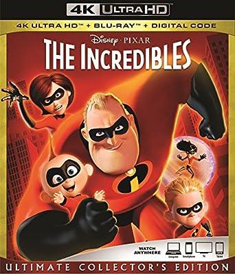 Amazon com: The INCREDIBLES 4K Ultra Blu Ray + Blu Ray +