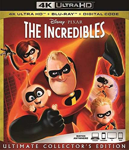 Blu-ray : The Incredibles (With Blu-Ray, 4K Mastering, Collector's Edition, Digital Theater System, Dolby)