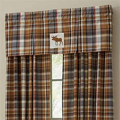Park Design 45 Inches x 15 Inches Roaring Thunder Lined Pleat Valance Window Treatments (Thunder Roaring)