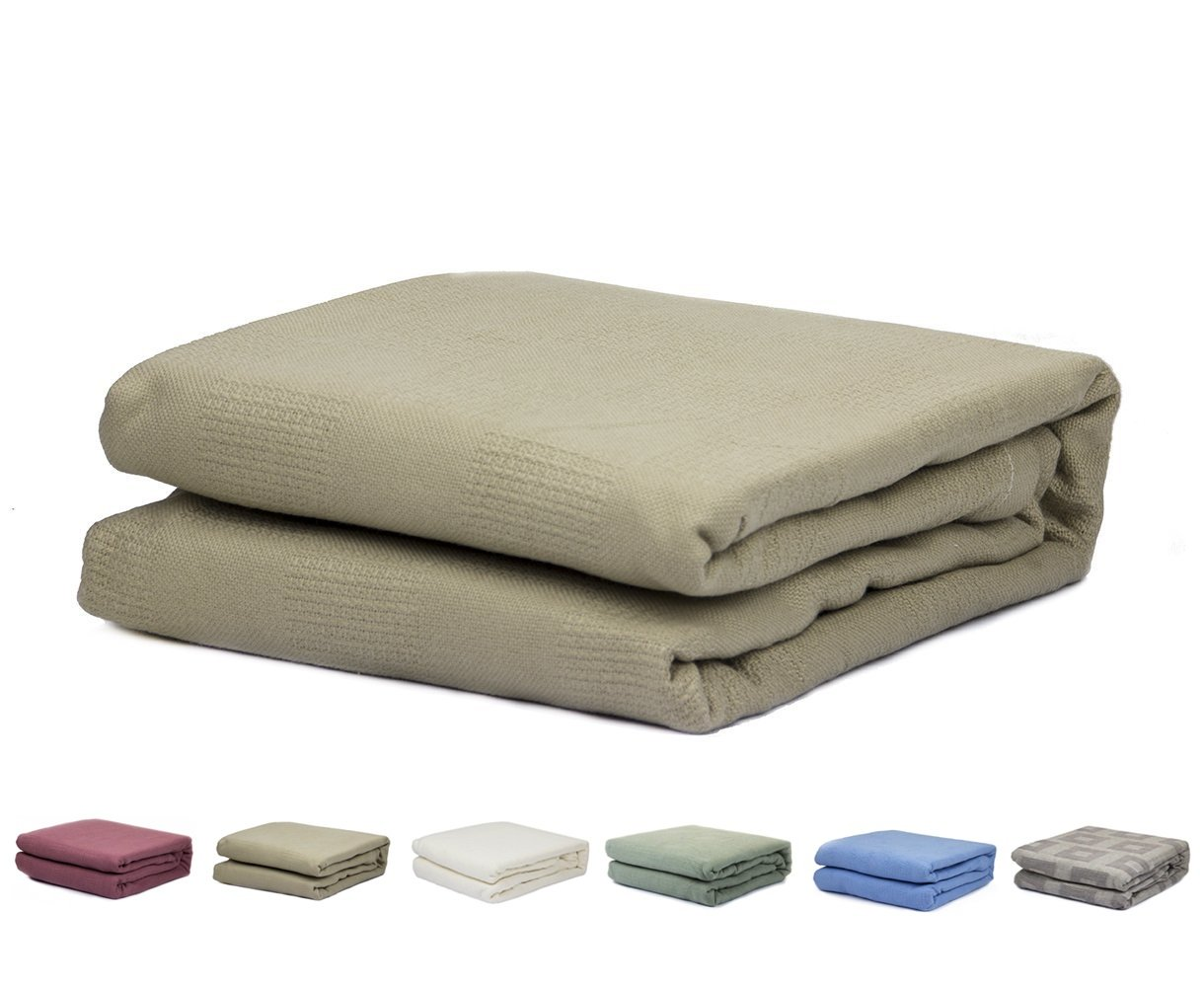 2PO Twin Size 100% Cotton Thermal Blanket (Brown Color)