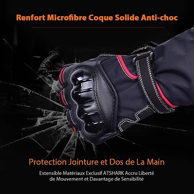 M Noir Gants de Moto en Sports de Plein air pour Hommes Conduite r/étro Moto Gants /à /écran Tactile Chauds en Automne et en Hiver