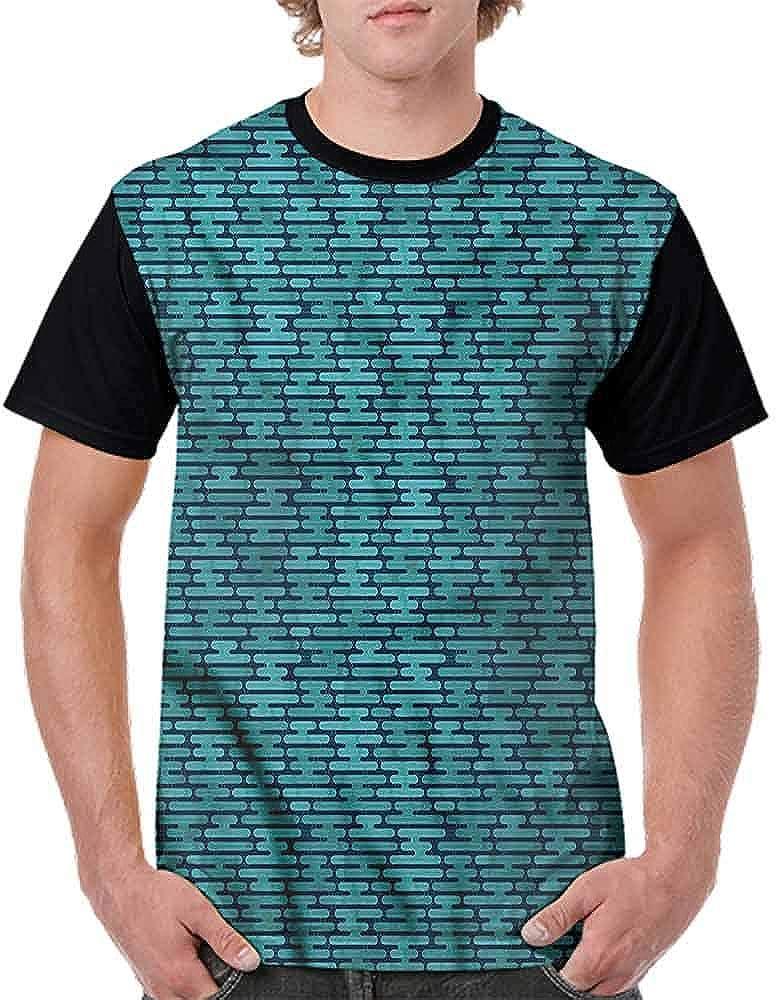 BlountDecor Unisex T-Shirt,Puzzle Like Pieces Artsy Fashion Personality Customization
