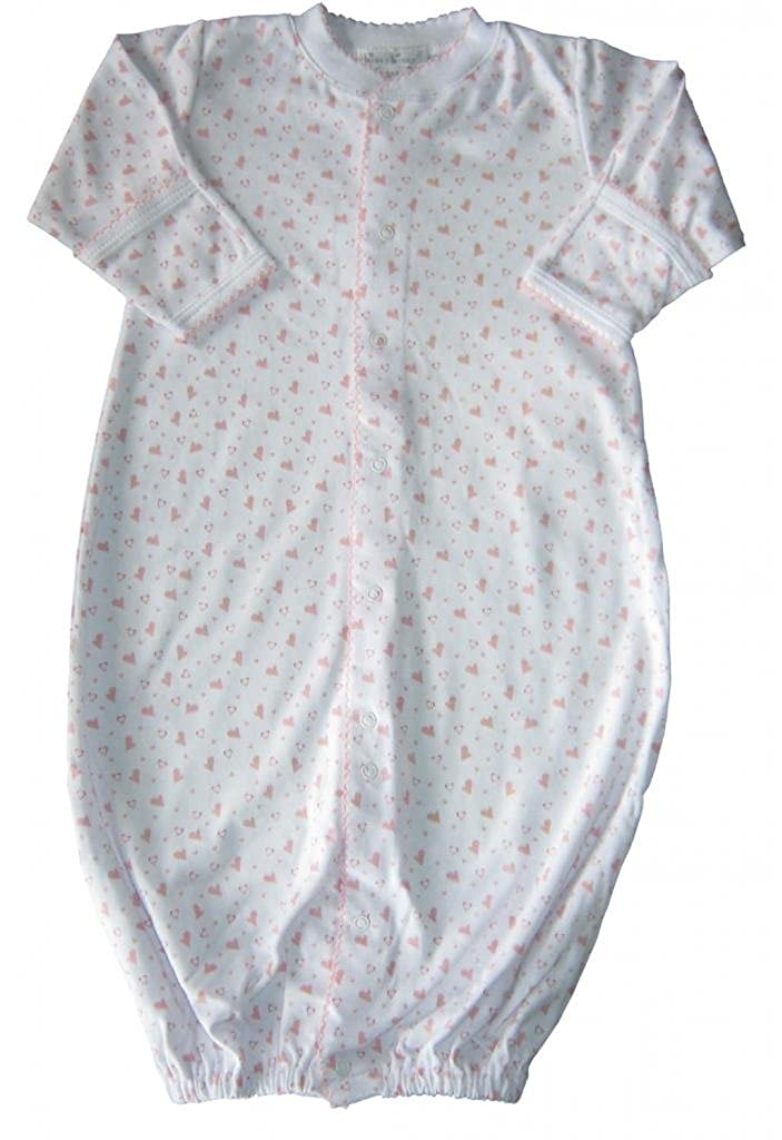 Kissy Kissy Baby Infants Hearts and Stars Print Convertible Gown 481-14P-LB