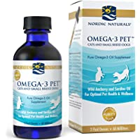 Nordic Naturals Omega 3 Pet - Fish Oil Liquid for Cats and Dogs, Omega-3s, EPA and DHA Supports Skin, Coat, Joint and…