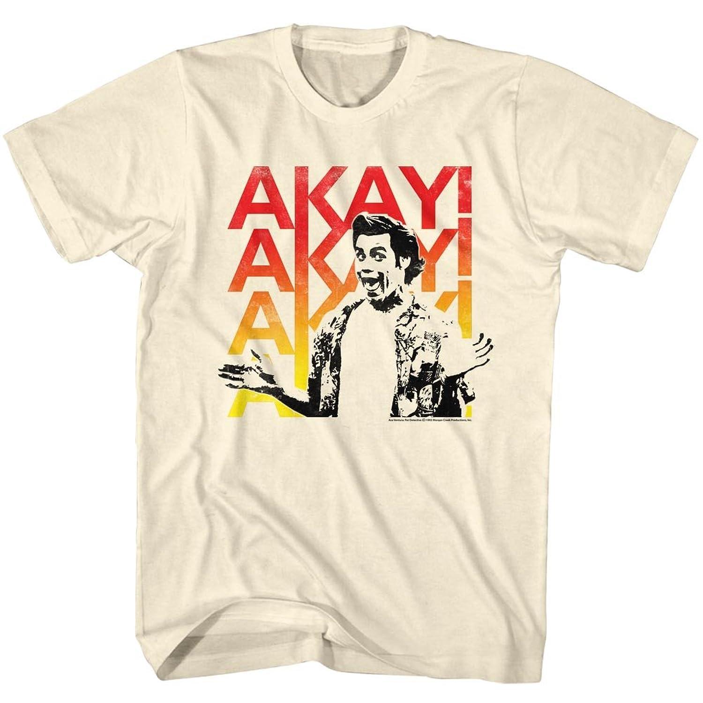 Ace Ventura 1994 Comedy Movie Jim Carrey Akay! Akay! Tan Beige Adult T-Shirt