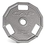 Cap Barbell Olympic 12 Sided Cast Iron Grip Plate 2-Inch (Single)
