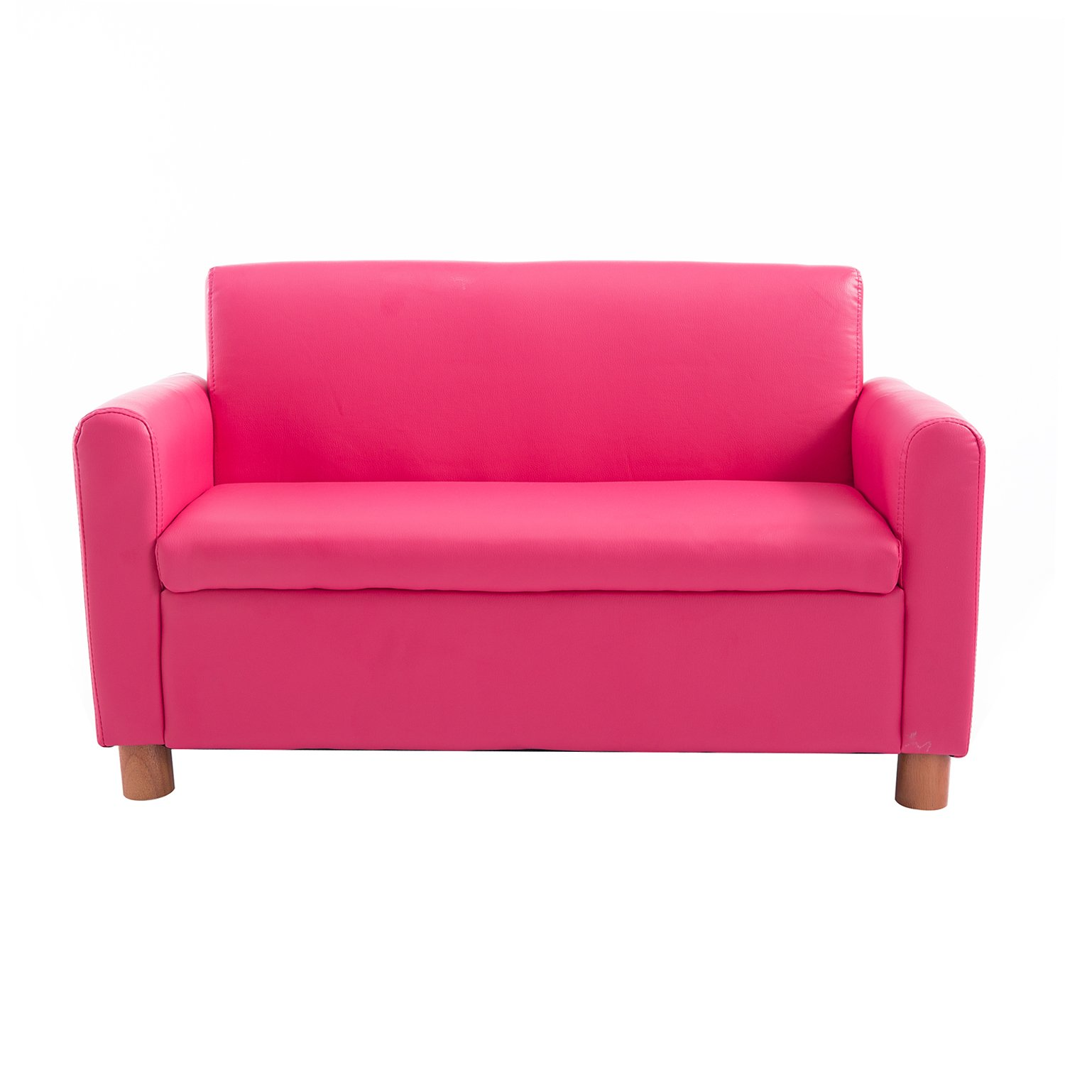 Homcom Pu Leather Kids Sofa Storage Armchair Relax Toddler Couch Children Game Seat Boys Girls Padded Chair Pink Two Seater Amazon Co Uk Kitchen Home