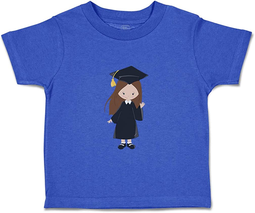 Custom Baby /& Toddler T-Shirt Grad Girl Brown Hair Black Waves Boy Girl Clothes