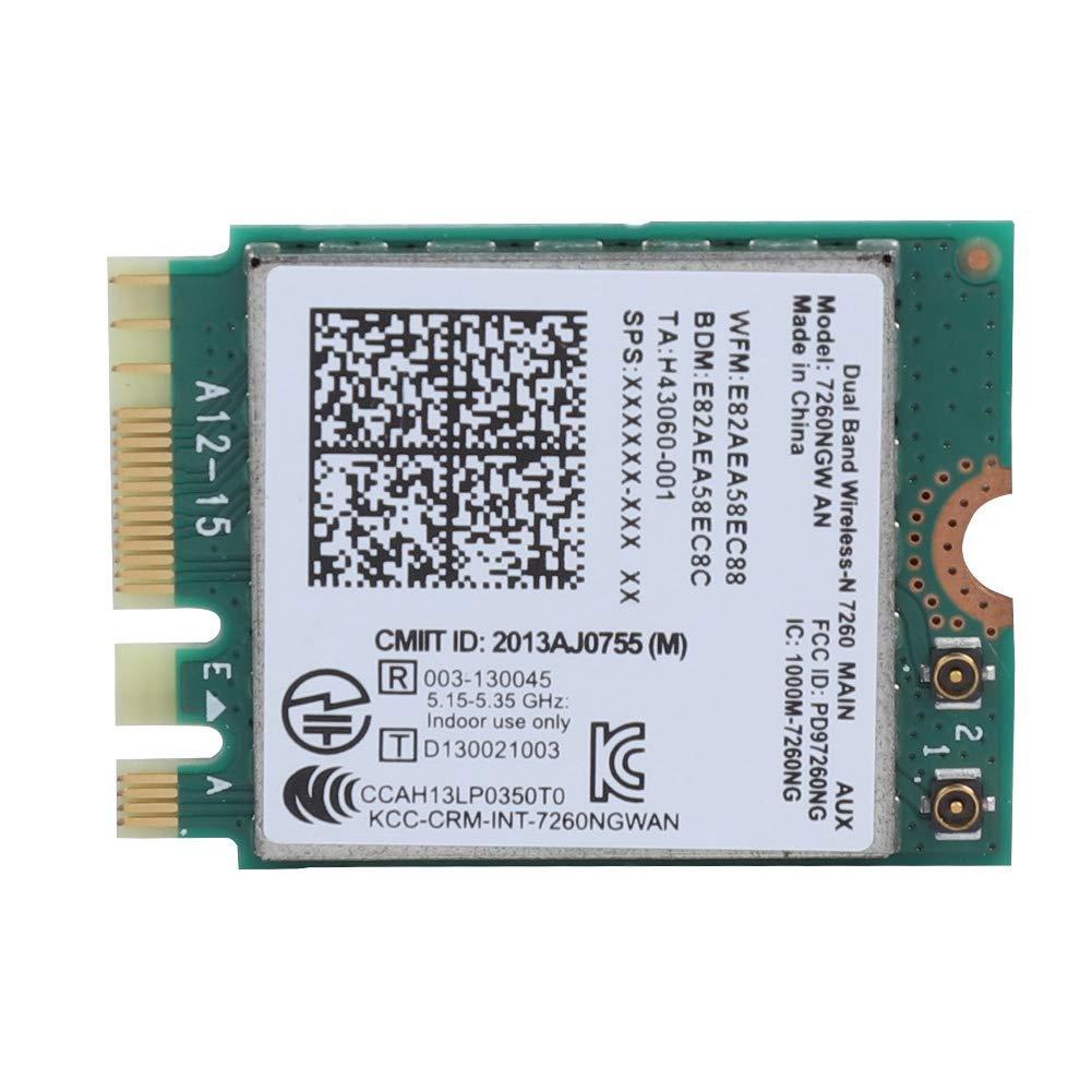 Pokerty Tarjeta de Red Intel 7260NGW AN inalámbrica WiFi 2.4 ...