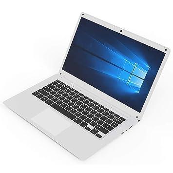 CXZC Blanco Ordenador portátil de 14.1 Pulgadas Interfaz USB 3.0 Computadoras portátiles Intel HD, 2G