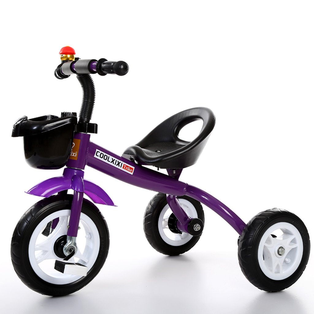 Kinder Dreirad 2-5 Jahre alt Baby Bike Kind Kinderwagen, weiß grün lila, 68  50  57cm.