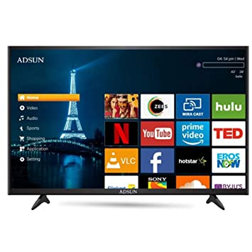 ADSUN 125 cm (50 Inches) 4K Ultra HD Smart LED TV 50AESL1 (Black) (2019 Model)