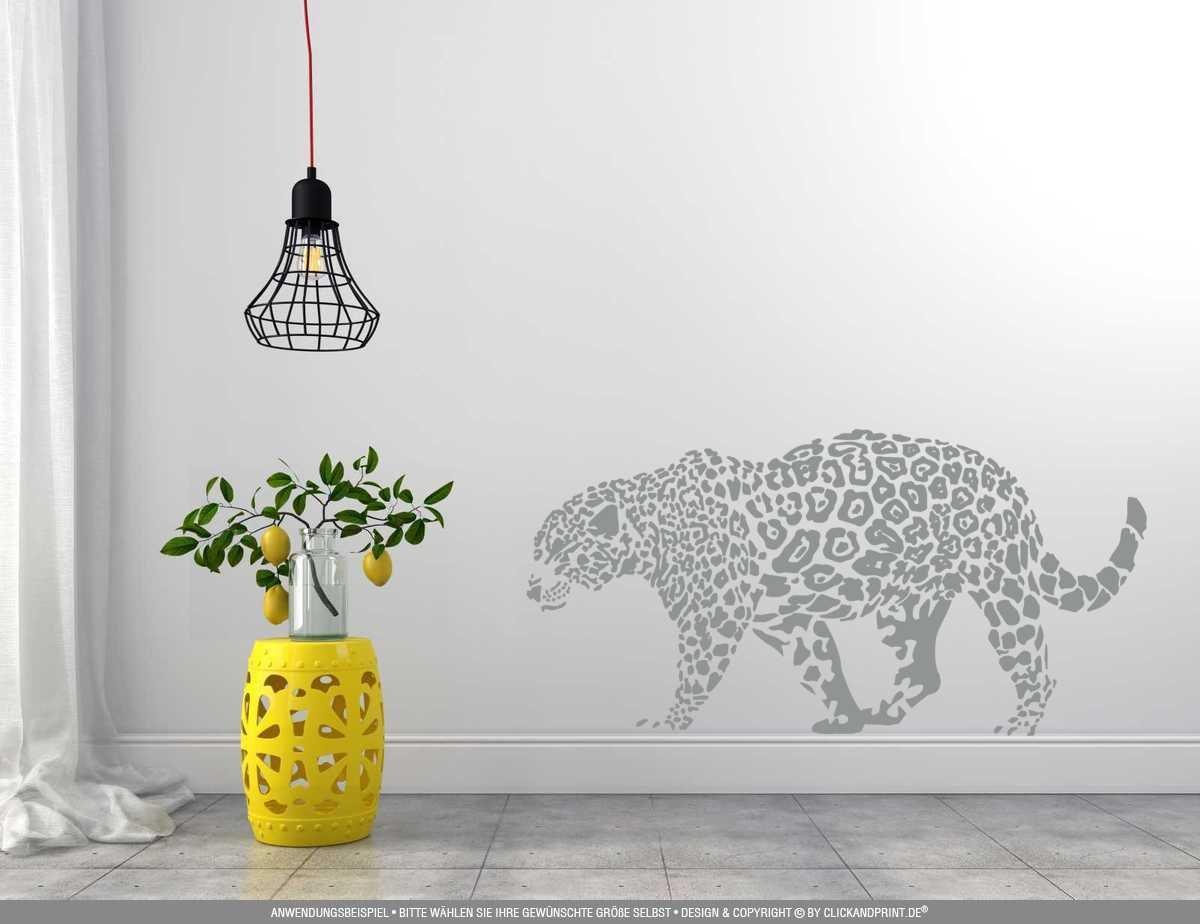 CLICKANDPRINT Aufkleber » Leopard, 150x74,4cm, Türkis Türkis Türkis • Wandtattoo   Wandaufkleber   Wandsticker   Wanddeko   Vinyl B073X76R1K Wandtattoos & Wandbilder 722186