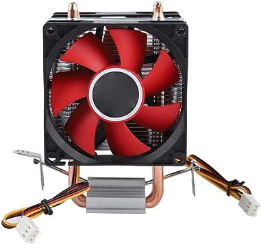 Diyeeni Mini Pc CPU Radiador Doble Silencioso Ventilador,2 Tubo De ...