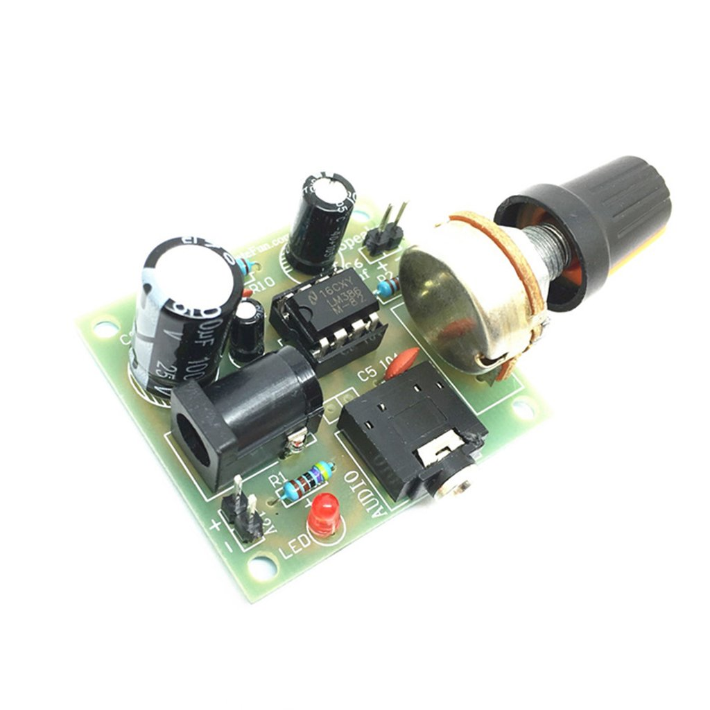 Magideal Amplifier Board 3v 12v Lm386 Dc Audio Circuit With Pcb Modules Parts Speaker 146x161 Size Home Kitchen
