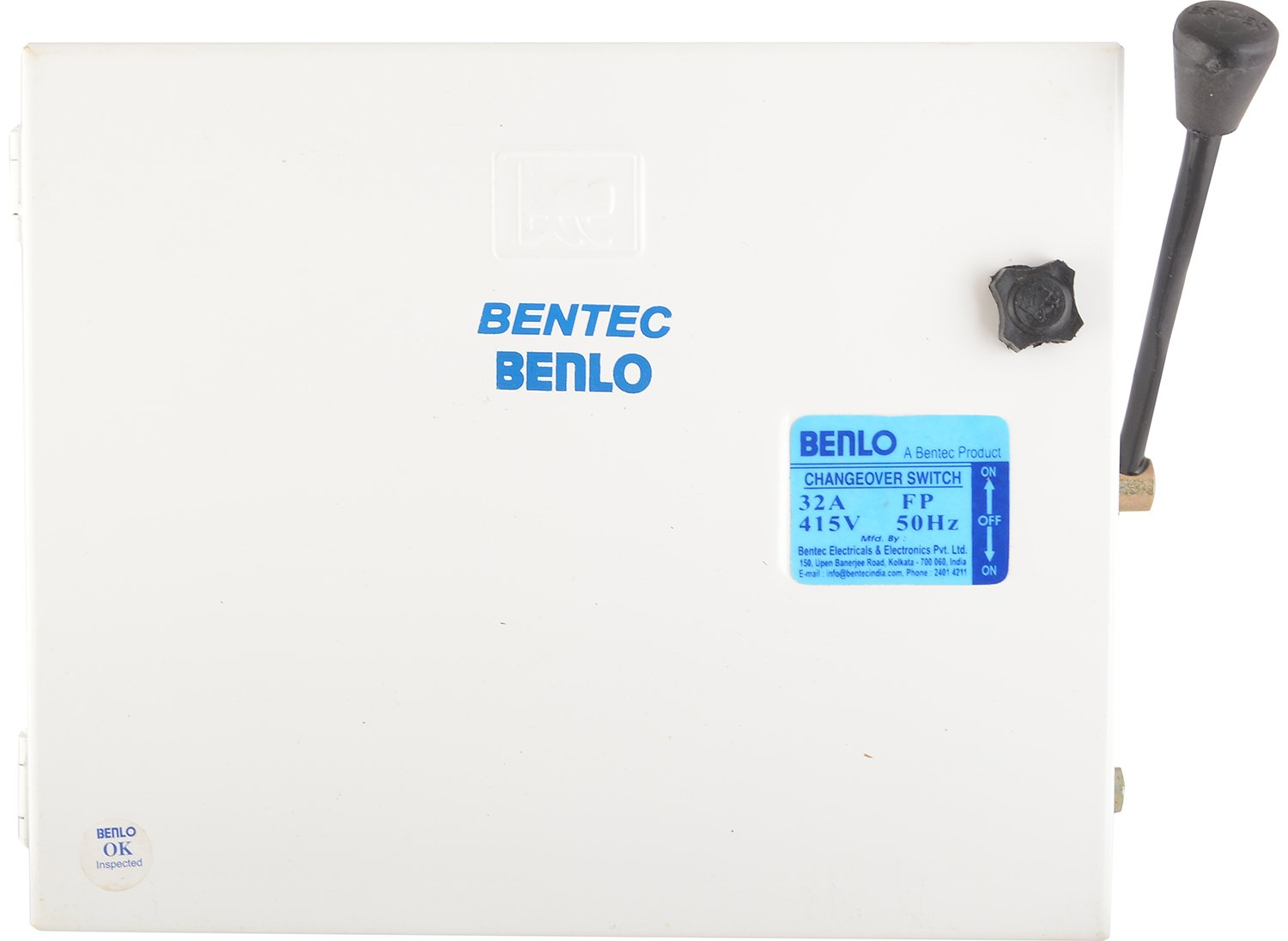 Benlo Metal 32 Amp 415 Volts 4 Pole Change Overswitch White 2 Way Changeover Switch Home Improvement
