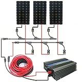 eco-worthy 500W Panneau solaire système Kit complet: 3160W 12V monocristallin Panneaux Solaires et 500W de puissance Grille inverseurs & PV Câble et y branche