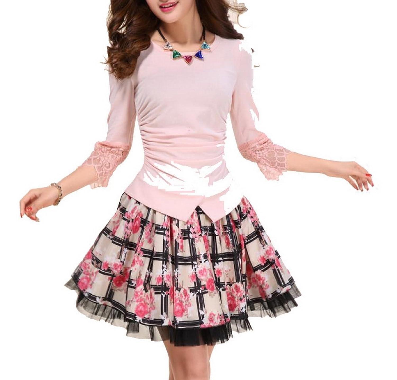 Lace Dress Chiffon Skirt Sleeve Skirt Skirt