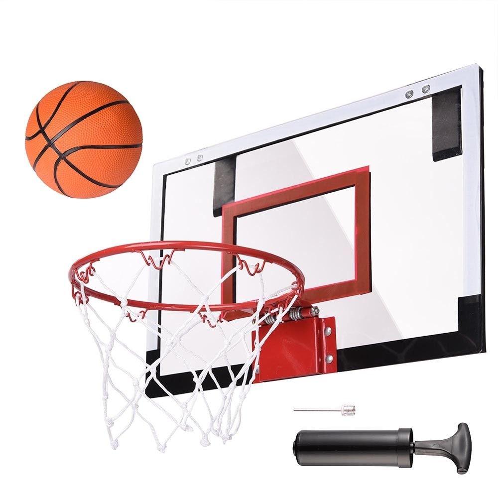 ミニバスケットボールフープシステムインドアアウトドアホームオフィス壁Basketball Net Goal B07B3PNTLD