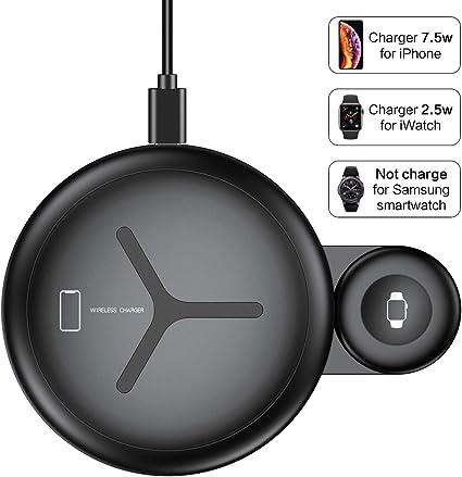 Amazon.com: Cargador inalámbrico 2 en 1 [segunda generación ...