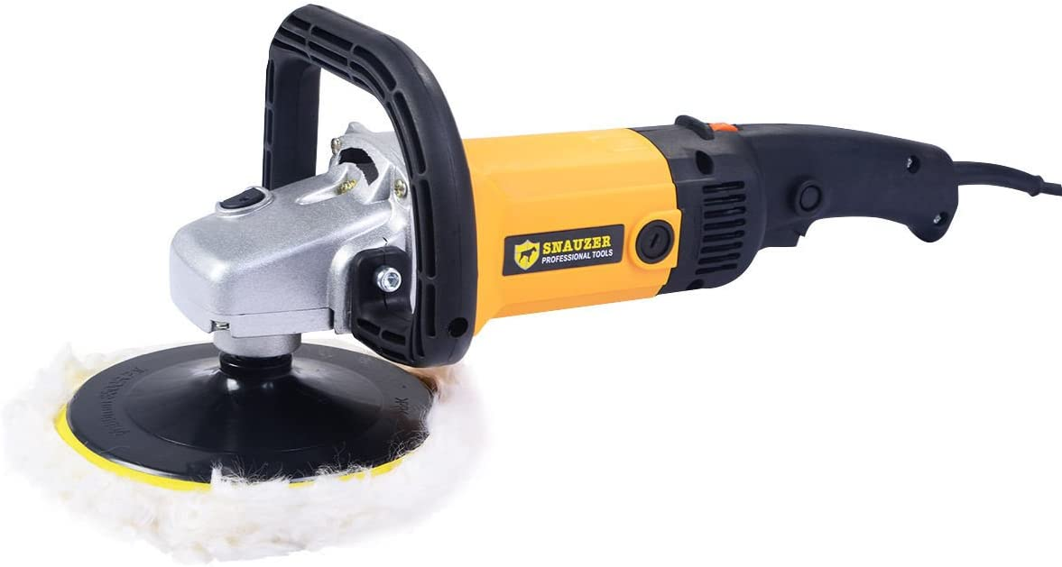 """7/"""" Electric Variable 6-Speed Car Polisher Buffer Waxer Sander w//2 Carbon Brush"""