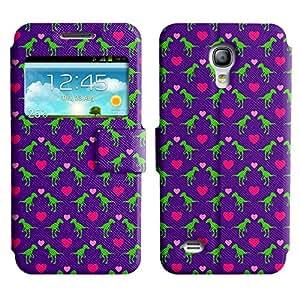 LEOCASE Dinosaurios Y Corazones Funda Carcasa Cuero Tapa Case Para Samsung Galaxy S4 Mini I9190 No.1000882