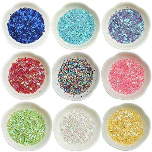 Bilipala Glitter Confetti Colorful Sequins for Party Decoration, DIY Crafts, Nail Art Supplies, 3.6 OZ / 100 - Crafts Glitter And Arts