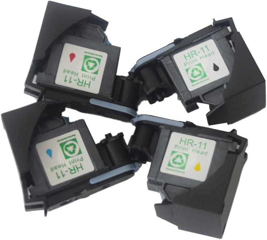 ouguan tinta remanfactured 4 packprinthead C4810 A C4811 A C4812 A C4813 A Recambio de cabezal de impresión para impresora HP11 HP 11 Cabezal de impresión de inyección de tinta uso en