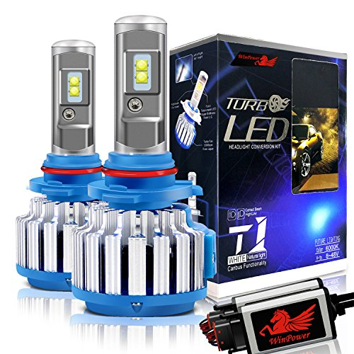 Beam Light Kit Fog (Win Power 9006 LED Headlight Bulbs Conversion Kit 6000k Cool White 7200 Lumens HB4 Cree Fog Lights/Low Beam Headlight Bulb Replacement+ Canbus-2 Year Warranty)