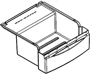 Whirlpool 2223790 Refrigerator Deli Drawer Genuine Original Equipment Manufacturer (OEM) Part