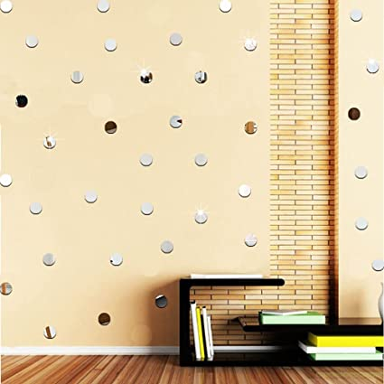 Amazon.com: Amaonm Removable 3D Acrylic Polka Dots Wall Decals DIY ...