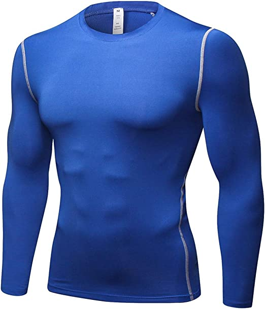 Hombre Deportiva Compresión Camiseta Camisa de compresión Camiseta de entrenamiento de baloncesto de manga larga Camisa deportiva para correr Baselayer para hombres Gimnasio de compresión Camisa de ma: Amazon.es: Hogar