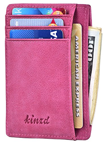 Places Holder (Slim Wallet RFID Front Pocket Wallet Minimalist Secure Thin Credit Card Holder,Purple,One Size)