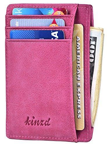 Slim Wallet RFID Front Pocket Wallet Minimalist Secure Thin Credit Card Holder,Purple,One Size