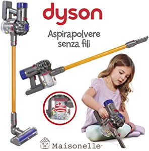 ODS- V8 Dyson Children's Toy Vacuum Cleaner, Grey, Orange and Purple, 20800