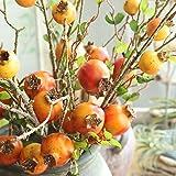Effulow Pomegranate Dry Branch Simulation Fruit Fruit Artificial Flower Home Decoration