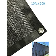 YGS 80% Black 10ftx20ft Shade Cloth UV Resistant Net For Garden Flower Plant
