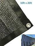 YGS 80% Black 10ftx20ft Shade Cloth UV Resistant Net For Garden Flower Plant
