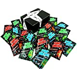 POP ROCKS Popping Candy 3-Flavor Variety: Six 0.33 oz Packets Each of Strawberry, Watermelon, and Tropical Punch in a BlackTie Box (18 Items Total)
