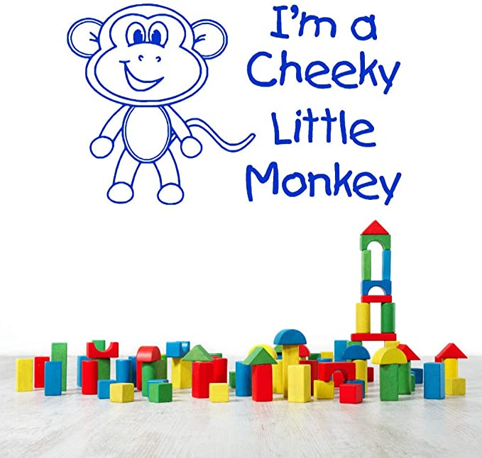 woyaofal Cute Little Vinyl Wall Decals Quote I Am A Cheeky Little ...