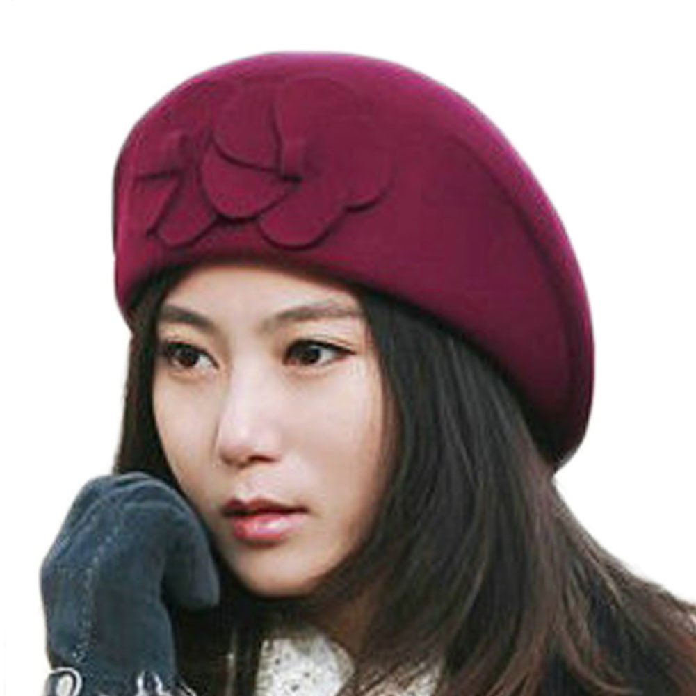 June s Young French Beret-100% Wool Solid Color Womens Beanie Cap Hat at  Amazon Women s Clothing store  84f888de72b3