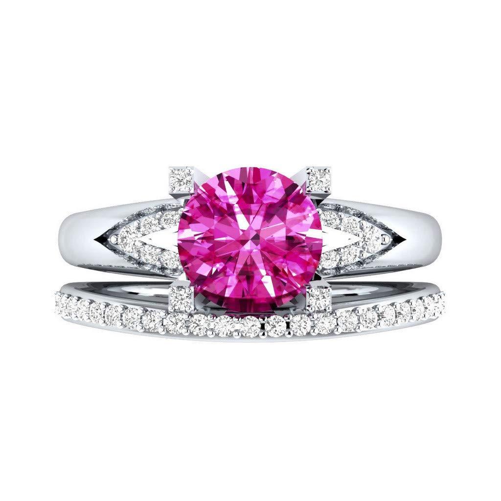 ballsFHK Fashion Luxury Noble Ladies's Silver Cutting Square Diamond Multicolor Diamond Ring
