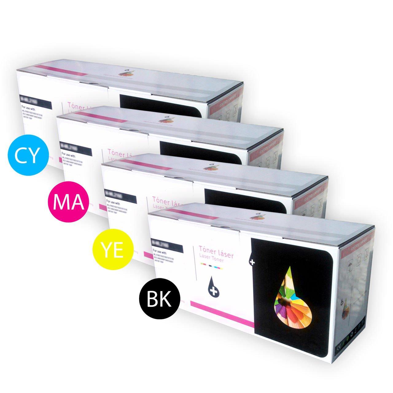 PACK MULTICOLOR 4 x cartuchos de tóner láser COLOR Y NEGRO por solo 39,27€