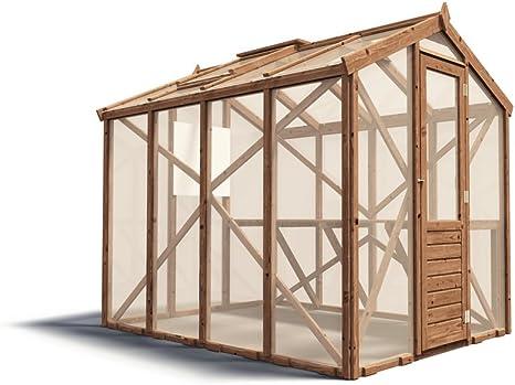 Dunster House De madera jardín invernadero automático de ...