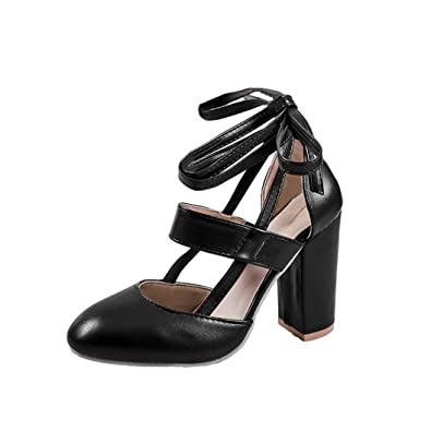 c89145174f Sandals for Women Jamicy High Heel Sandals Ankle Strap Dress Shoes for  Party Wedding (35