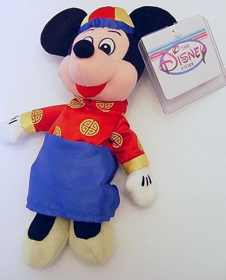 Amazon Com Chinese New Year Mickey Mouse Bean Bag Disney Plush 9