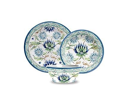 TarHong 12 Piece Sikandra Floral Heavyweight Dinnerware Set Multicolored  sc 1 st  Amazon.com & Amazon.com | TarHong 12 Piece Sikandra Floral Heavyweight Dinnerware ...