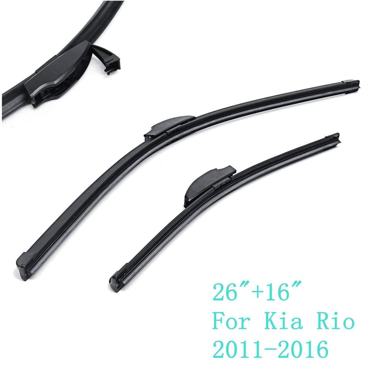Escobillas limpiaparabrisas de caucho natural para Kia Rio 2011 2012 2013 2014 2015 2016: Amazon.es: Bricolaje y herramientas